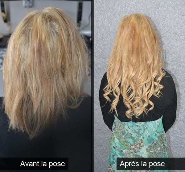 Célèbre Avant et après la pose d'extensions de cheveux naturels - Gianna  SU04